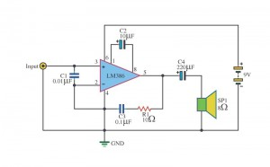 amplifier-audio-small-to-use-with-9V-battery-operated